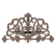 Whitehall Filigree 1/2 Rnd Hose Holder  - Copper Verdigris - Aluminum