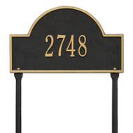 Whitehall Arch Marker - Standard Lawn - One Line