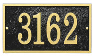 Whitehall Fast & Easy Rectangle House Numbers Plaque