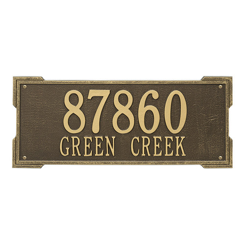 Whitehall Personalized Roanoke Plaque - Estate -Wall - 2 Line