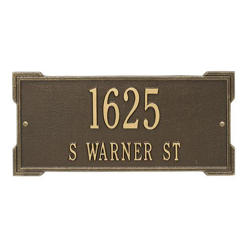 Whitehall Personalized Roanoke Plaque - Standard -Wall - 2 Line