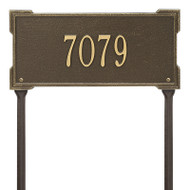 Whitehall Personalized Roanoke Plaque - Standard -Lawn - 1 Line