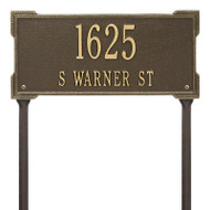 Whitehall Personalized Roanoke Plaque - Standard -Lawn - 2 Line