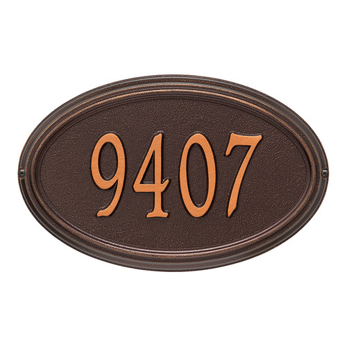 Whitehall Personalized Concord Oval Plaque - Standard -Wall - 1 Line
