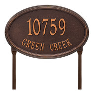 Whitehall Personalized Concord Oval Plaque -Estate - Lawn - 2 Line