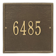 Whitehall Personalized Square Plaque - Standard - Wall - 1 line