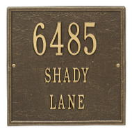 Whitehall Personalized Square Plaque - Standard - Wall - 3 line