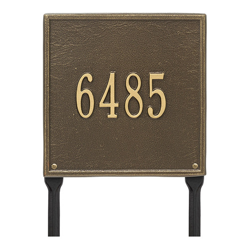 Whitehall Personalized Square Plaque - Standard - Lawn - 1 line