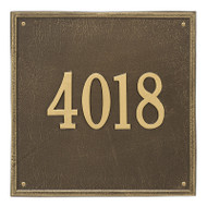 Whitehall Personalized Square Plaque - Estate -Wall - 1 line