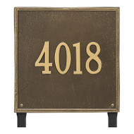 Whitehall Personalized Square Plaque - Estate - Lawn - 1 line