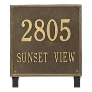 Whitehall Personalized Square Plaque - Estate - Lawn - 2 line