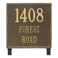 Whitehall Personalized Square Plaque - Estate - Lawn - 3 line