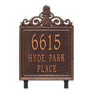Whitehall Personalized Lanai Plaque - Standard - Lawn - 3 Line