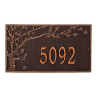 Whitehall Personalized Spring Blossom Plaque - Estate - Wall - 1 Line