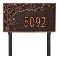 Whitehall Personalized Spring Blossom Plaque - Estate - Lawn - 1 Line
