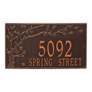 Whitehall Personalized Spring Blossom Plaque - Estate - Wall - 2 Line