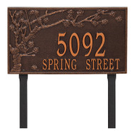 Whitehall Personalized Spring Blossom Plaque - Estate - Lawn - 2 Line