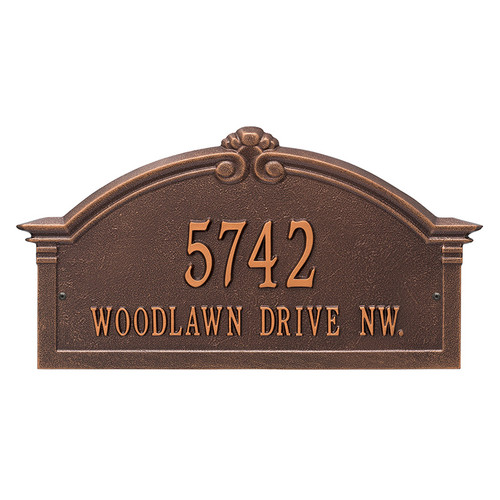 Whitehall Personalized Roselyn Arch Plaque - Grande - Wall - 2 Line