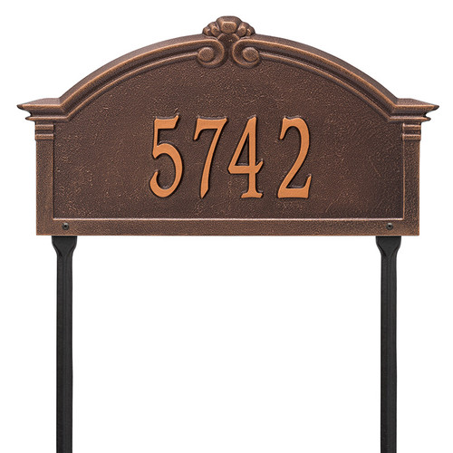 Whitehall Personalized Roselyn Arch Plaque - Grande - Lawn- 1 Line