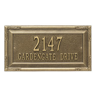 Whitehall Personalized Gardengate Plaque - Grande - Wall - 2 line