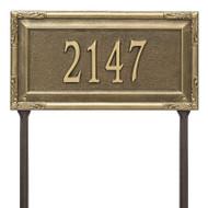 Whitehall Personalized Gardengate Plaque - Grande - Lawn - 1 line