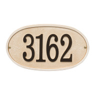 Whitehall Personalized Stonework Plaque - Oval- 1 Line