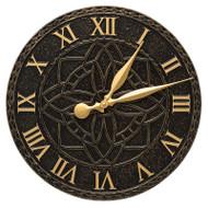 "Whitehall Artisan 16"" Indoor Outdoor Wall Clock"