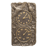 Whitehall Cardinal Indoor Outdoor Wall Clock & Thermometer