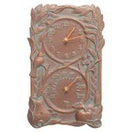 Whitehall Fruit Bird Indoor Outdoor Wall Clock & Thermometer