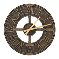 "Whitehall Hera 16"" Indoor Outdoor Wall Clock"