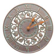 """Whitehall Ivy 12"""" Indoor Outdoor Wall Clock"""