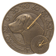 """Whitehall Labrador 14"""" Indoor Outdoor Wall Clock & Thermometer"""