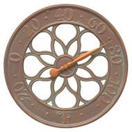"Whitehall Medallion 18"" Indoor Outdoor Wall Clock"