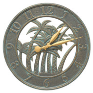 "Whitehall Palm 18"" Indoor Outdoor Wall Clock"
