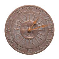 "Whitehall Sunface 12"" Indoor Outdoor Wall Clock"