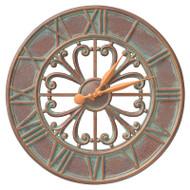 "Whitehall Villanova 21"" Indoor Outdoor Wall Clock"