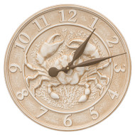 "Whitehall 16"" Crab Sealife Clock - Weathered Limestone"