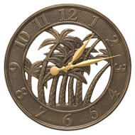 "Whitehall 18"" Palm Wall Clock Indoor Outdoor"