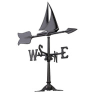"Whitehall 24"" Sailboat Accent Weathervane - Black"