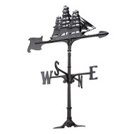 "Whitehall 30"" Clipper Accent Weathervane - Black"
