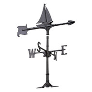 "Whitehall 30"" Sailboat Accent Weathervane - Black"