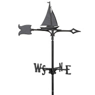 "Whitehall 30"" Sailboat Weathervane"