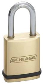 Schlage Portable Locks Heavy Duty Performance Brass Padlock KS23 Conventional Key In Knob No Cylinder