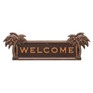 Whitehall Palm Tree Welcome Plaque