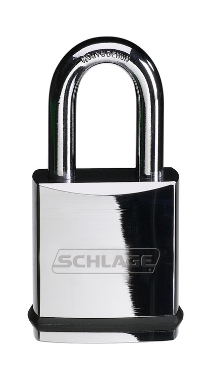 Schlage Portable Locks Heavy Duty Performance Chrome Plated Brass Padlock KS11 Small Format Interchangeable Core SFIC No Cylinder