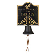 Whitehall Personalized Anchor Bell Welcome Plaque