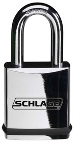 Schlage Portable Locks Heavy Duty Performance Chrome Plated Brass Padlock KS21 Small Format Interchangeable Core SFIC No Cylinder