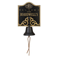 Whitehall Personalized Lighthouse Bell Welcome Plaque