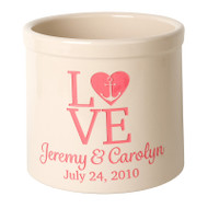 Whitehall Personalized Love Anchor Crock