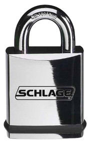 Schlage Portable Locks Heavy Duty Performance Chrome Plated Brass Padlock KS41 Small Format Interchangeable Core SFIC No Cylinder